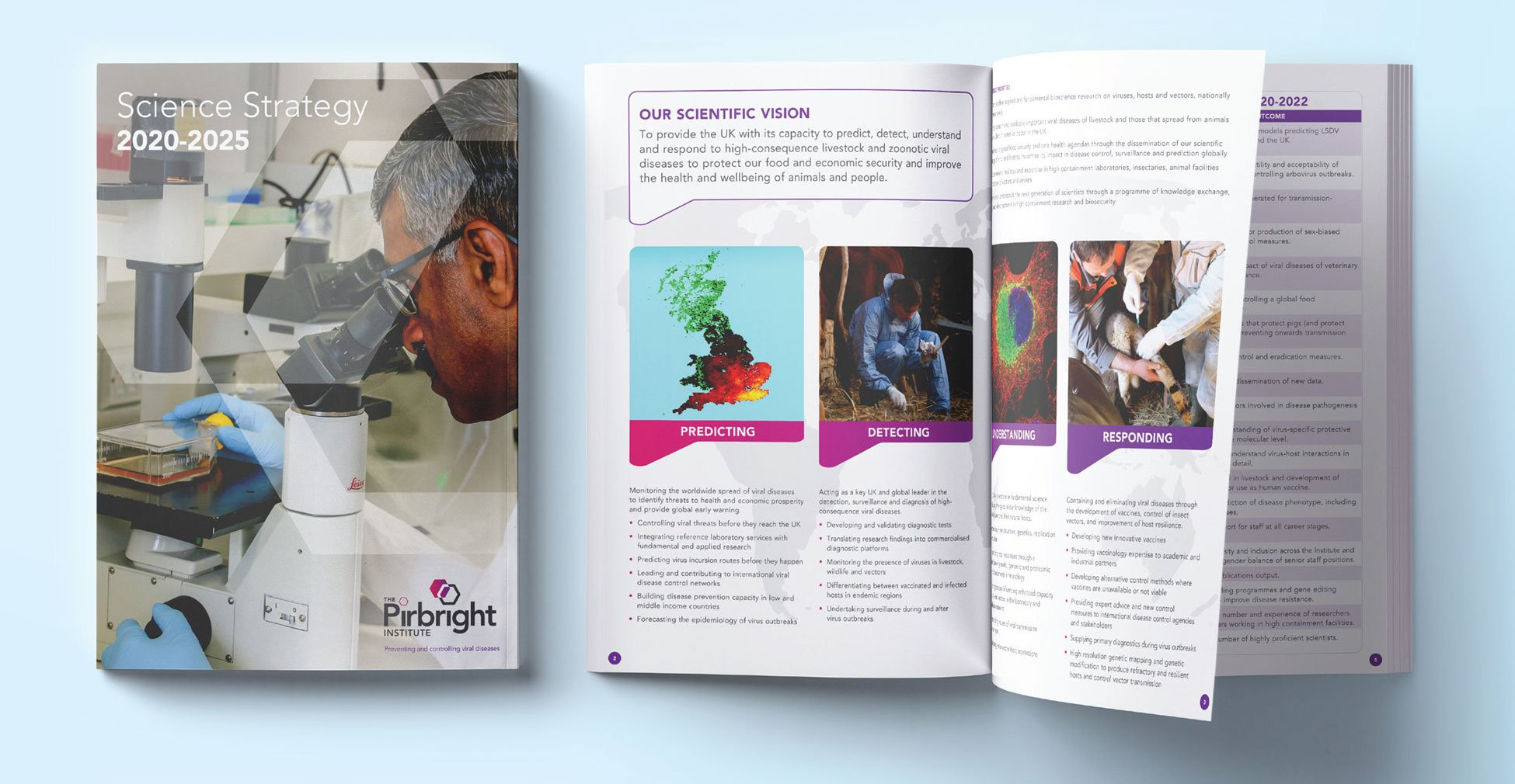 Pirbright Institute - Brochure design and printing