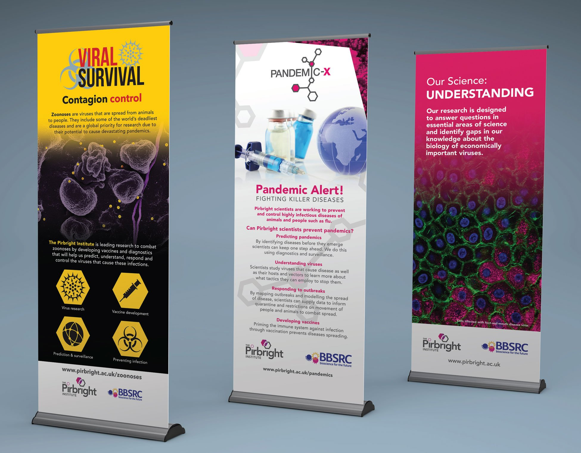 Pirbright Institute - Pull-up Banners design