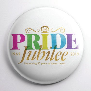 Pin badge for PRIDE Jubilee