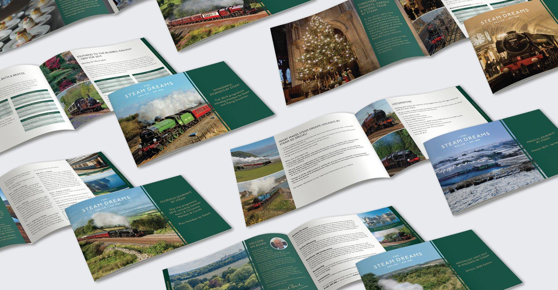 Steam Dreams - Brochure design & print