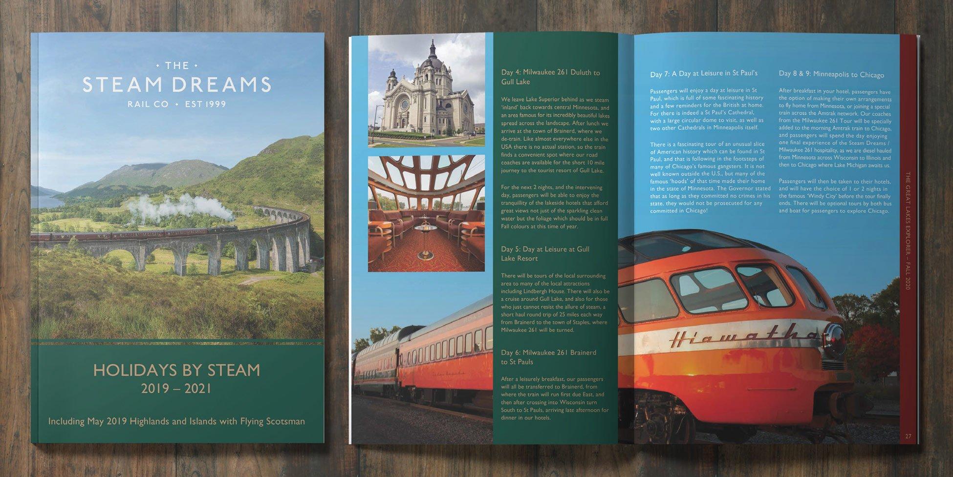 Steam Dreams - Catalogue Design & Print