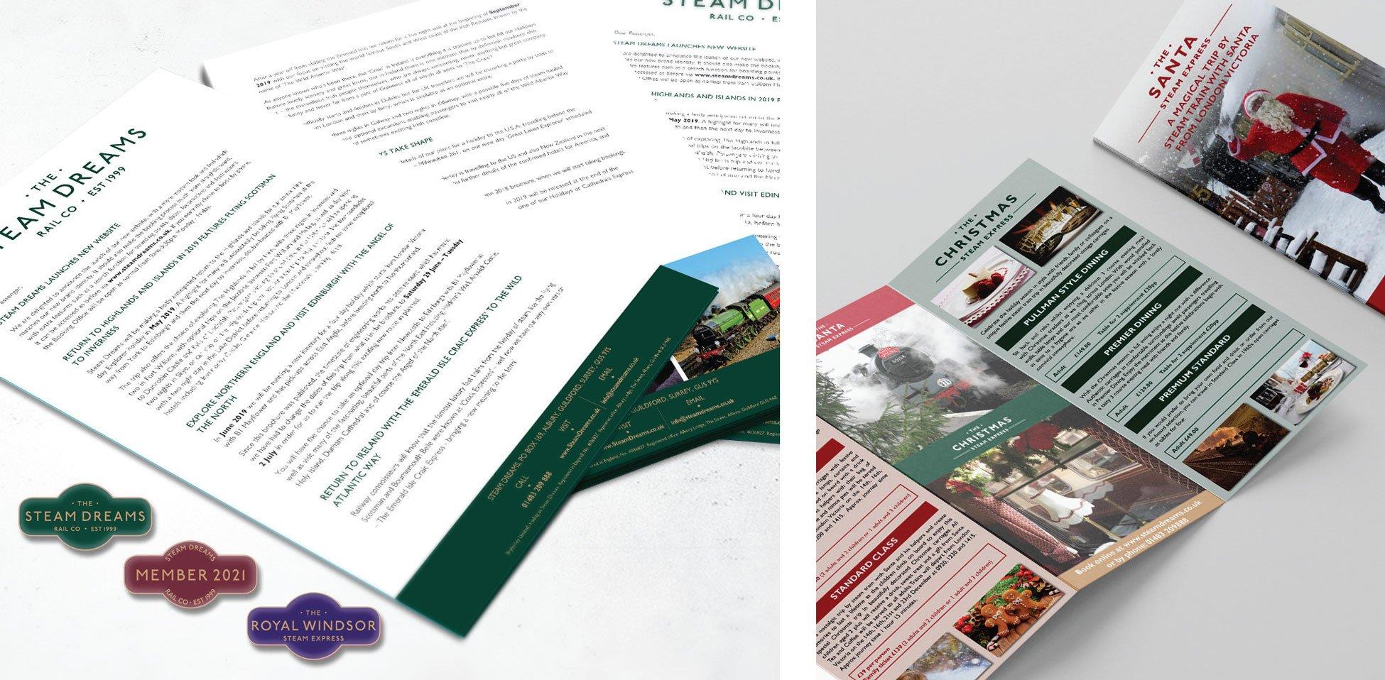 Steam Dreams - Leaflets Design & Print